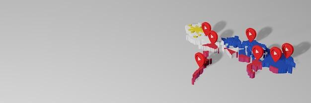 Wykorzystanie mediów społecznościowych i youtube na filipinach do tworzenia infografik w renderowaniu 3d