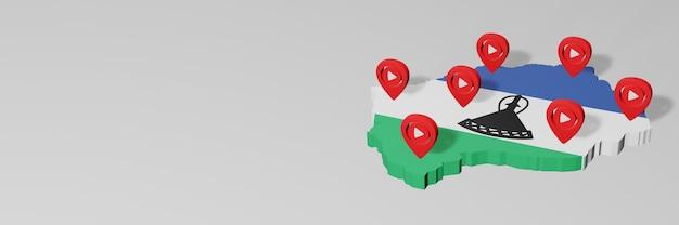 Wykorzystanie mediów społecznościowych i youtube w lesotho do infografik w renderowaniu 3d