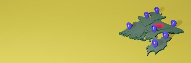 Wykorzystywanie i dystrybucja mediów społecznościowych facebook w bangladeszu do tworzenia infografik w renderowaniu 3d