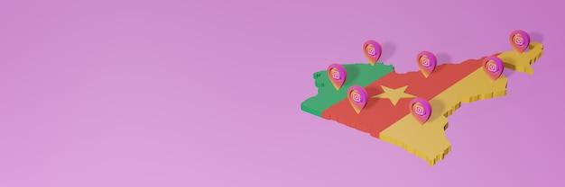 Wykorzystywanie i dystrybucja mediów społecznościowych instagram w kamerunie do infografik w renderowaniu 3d
