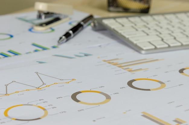 Wykres biznesowy i wykres