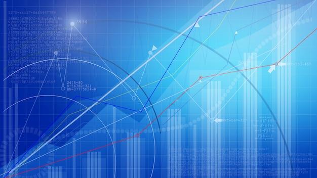 Wykres giełdowy. biznesowy wykresu tło.