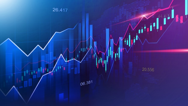 Wykres giełdowy lub forex