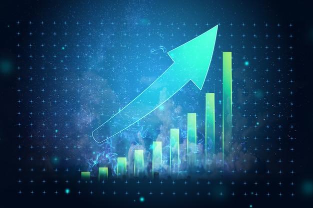 Wykres obrazu, strategia rozwoju, koncepcja biznesowa
