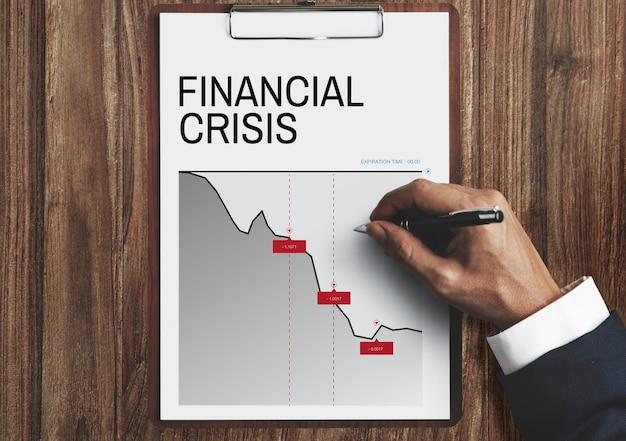 Wykres słowo dotyczące ryzyka biznesowego i finansowego