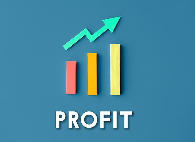 Wykres wzrost rozwój ulepszenie zysk sukces koncepcja