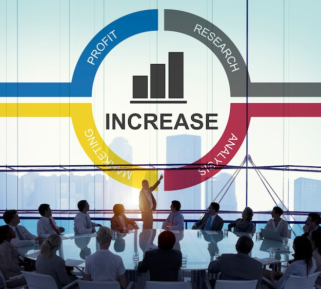 Wykres wzrostu rozwoju ulepszenia zysku pojęcie sukcesu
