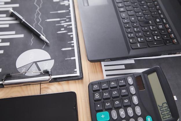 Wykresy biznesowe i obiekty biznesowe. księgowość