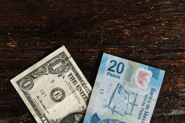Wymiana dolara na peso meksykańskie