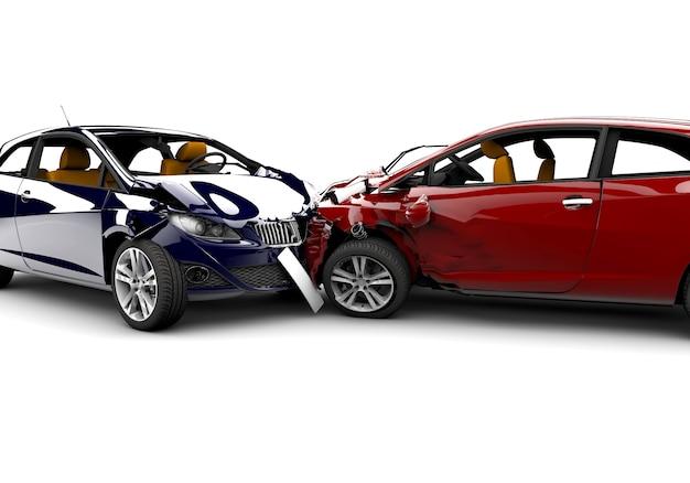 Wypadek z dwoma samochodami