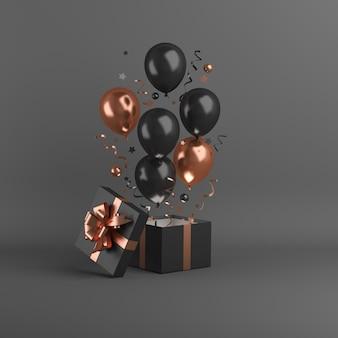 Wyprzedaż w czarny piątek z balonem