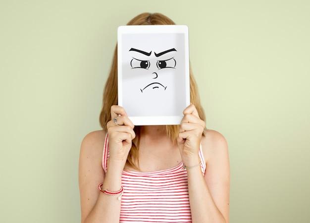 Wyraz twarzy emocjonalne ludzie koncepcja