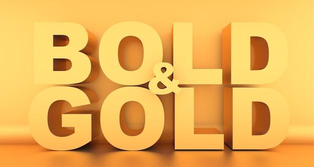 Wyrazisty i złoty napis w kolorze złotym