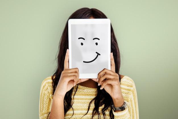 Wyrazy twarzy ilustracje emocje uczucia