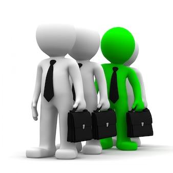 Wyróżniać się z tłumu. obraz koncepcyjny biznesu
