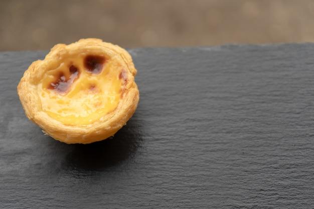 Wyśmienicie azjatycka jajeczna tarta od hong kong sławnego sklepu dla zdrowej kawowej przerwy w aftern
