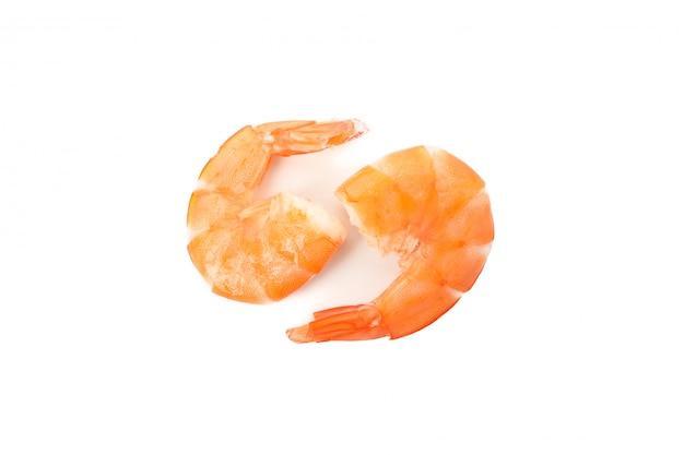 Wyśmienicie garnele odizolowywać na białym tle. owoce morza