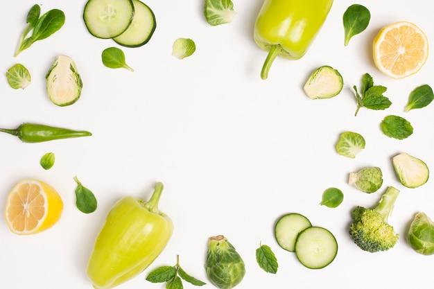 Wyśmienicie warzywo rama z kopii przestrzenią