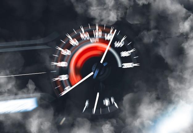 Wysoka wydajność prędkościomierza samochodowego i zamiatanie wskaźnika do dużej prędkości i dymu