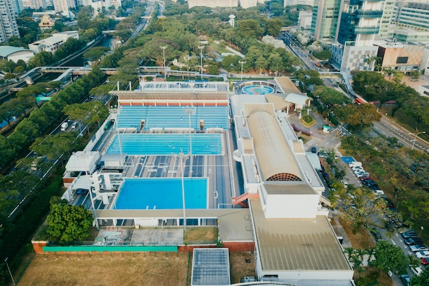 Wysoki kąt centrum sportowego