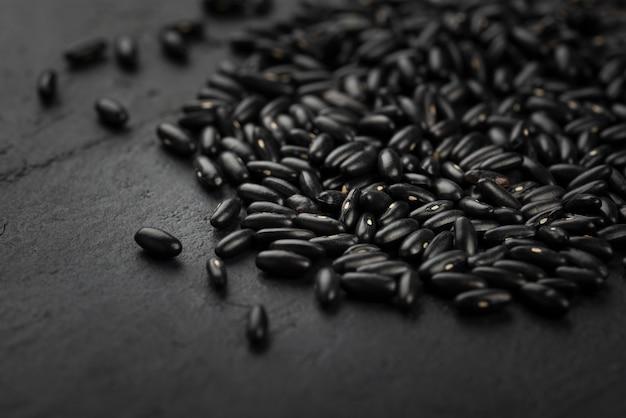 Wysoki kąt czarnej fasoli