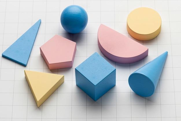 Wysoki kąt kształtów geometrycznych