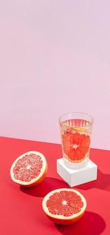 Wysoki kąt pysznej krwistej pomarańczy