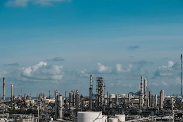 Wysoki kąt widzenia fabryki chemicznej
