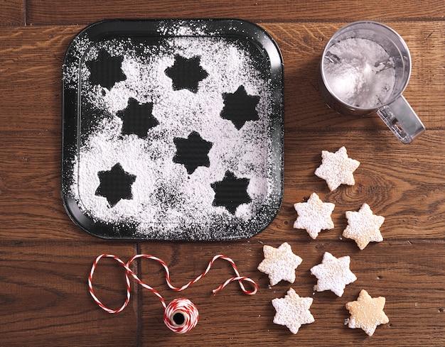 Wysoki kąt widzenia słodkich ciasteczek
