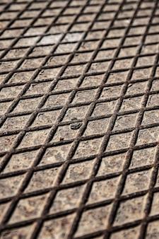 Wysoki widok metaliczne tło