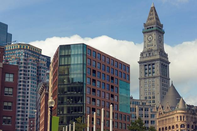 Wysokie budynki z centrum miasta boston