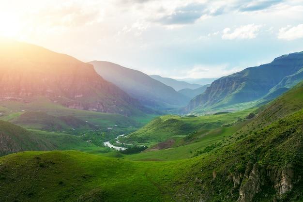 Wysokie góry w gruzji
