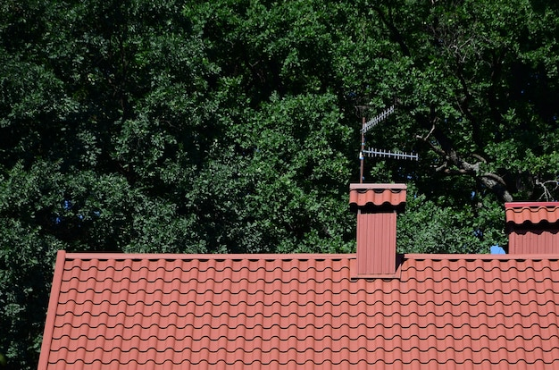 Wysokiej jakości dach czerwony dachówka metalowa domu