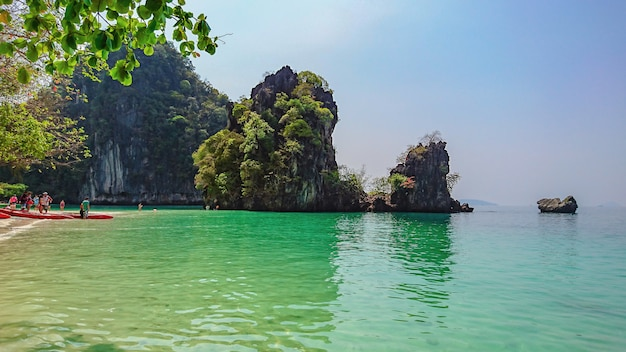 Wyspa koh hong w krabi w tajlandii