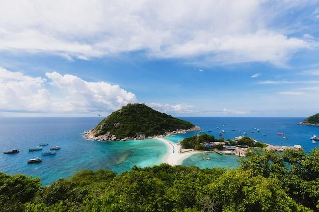 Wyspa koh nang yuan, rajska plaża w tajlandii