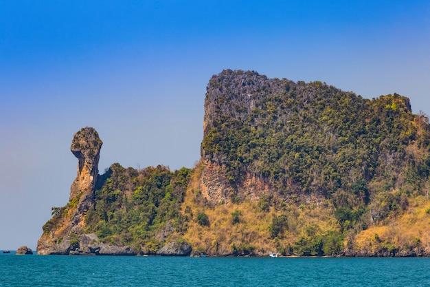 Wyspa kurczaka lub koh kai w lokalnej nazwie krabi, tajlandia