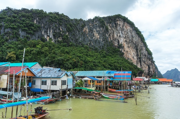 Wyspa panyee w zatoce phang nga,