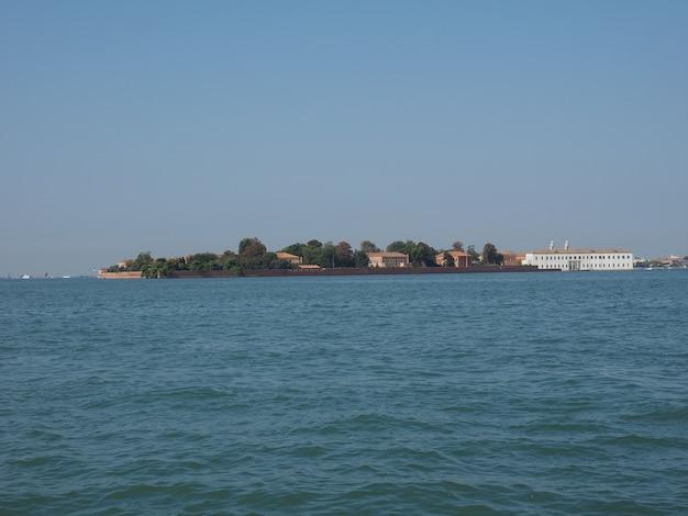 Wyspa san servolo w wenecji