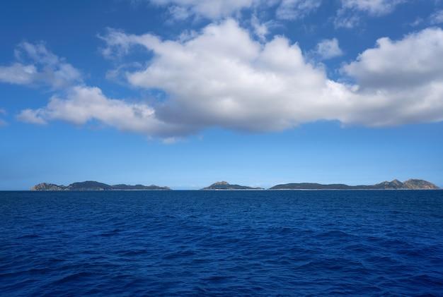 Wyspy islas cies w pobliżu vigo galicia hiszpania
