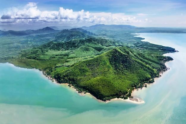 Wyspy piękności, widok z samolotu