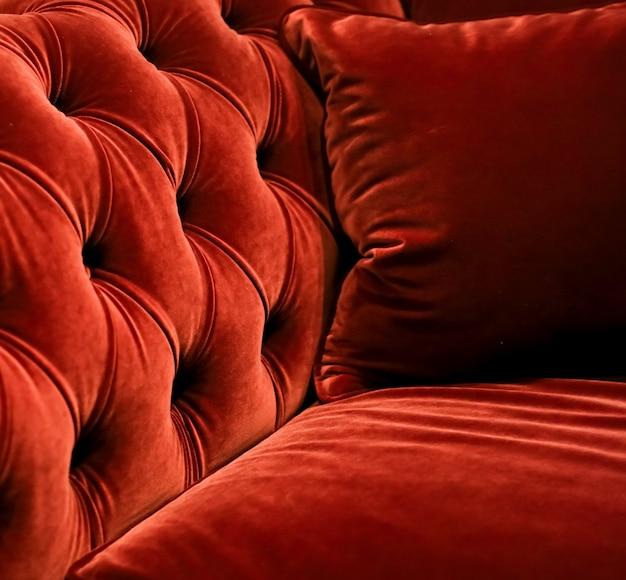 Wystrój domu wystrój wnętrz i luksusowe meble w tle sofa i poduszka szczegółowo