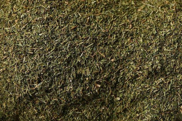 Wysuszony koperkowego proszka tekstury tło, zamyka up