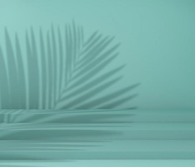 Wyświetl podium do prezentacji produktu, cień drzewa tropikalnego