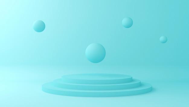 Wyświetl tło do prezentacji produktu kosmetycznego. pusta gablota wystawowa, 3d ilustracyjny rendering.