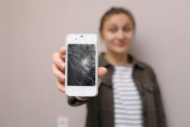 Wyświetlacz telefonu wymaga naprawy