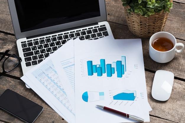 Wyświetlanie raportu biznesowego i finansowego. księgowość