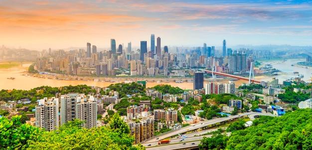Wyświetlić landmark asian sky refleksji