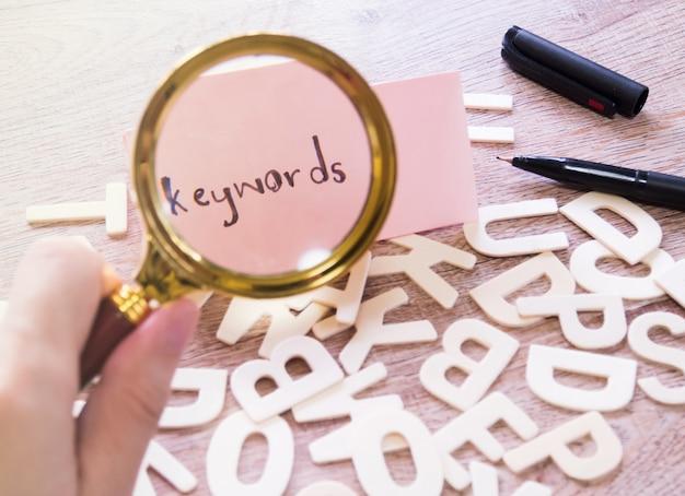 Wyszukaj pojęcie słowa kluczowego.