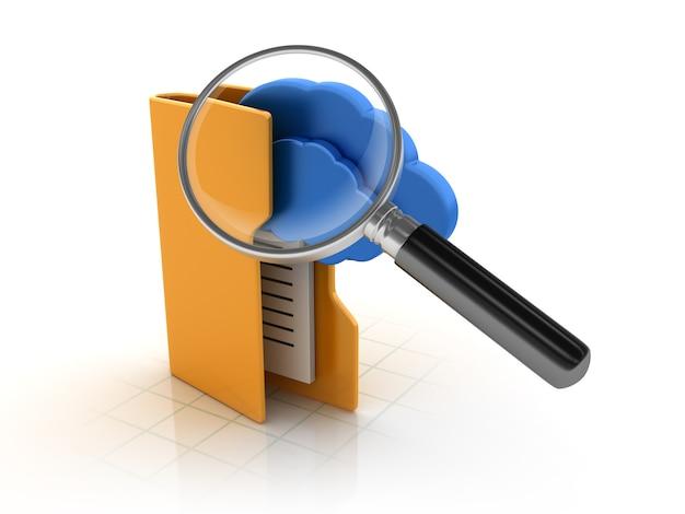 Wyszukiwanie folderów za pomocą cloud computing i szkła powiększającego
