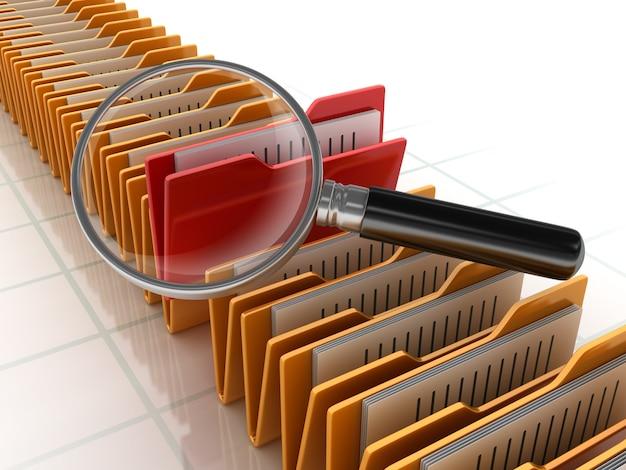 Wyszukiwanie folderów za pomocą szkła powiększającego